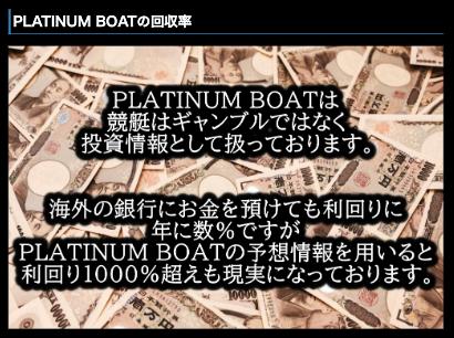 プラチナムボート特徴
